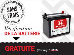Vérification de la batterie GRATUITE chez Avantage Honda à Shawinigan