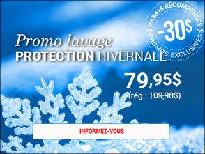 30$ de rabais pour un lavage PROTECTION hivernale! chez Hyundai Trois-Rivières à Trois-Rivières