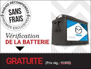 Vérification de la batterie SANS FRAIS! chez Prestige Mazda à Shawinigan