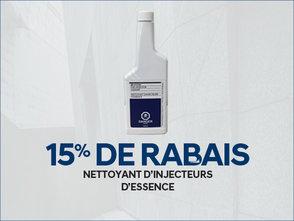 15% de RABAIS sur nettoyant d'injecteurs d'essence chez Hyundai Trois-Rivières à Trois-Rivières
