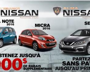 Nissan - prime salon de l'auto Versa, Micra, Sentra 2016