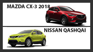 Mazda CX-3 vs Nissan Qashqai