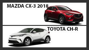 Mazda CX-3 2018 versus Toyota CH-R