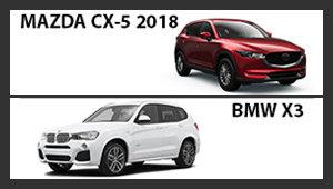 Mazda CX-5 2018 versus BMW X3