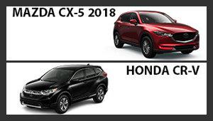 Mazda CX-5 2018 versus Honda CR-V