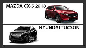Mazda CX-5 2018 versus Hyundai Tucson