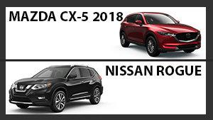Mazda CX-5 2018 versus Nissan Rogue