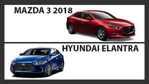 Mazda3 2018 vs Hyundai Elantra