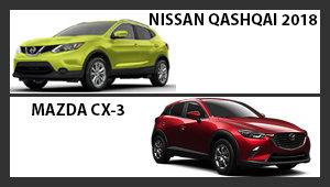 Nissan Qashqai 2018 versus Mazda CX-3