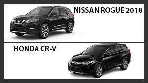 Nissan Rogue 2018 versus Honda CR-V