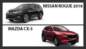 Nissan Rogue 2018 versus Mazda CX-5