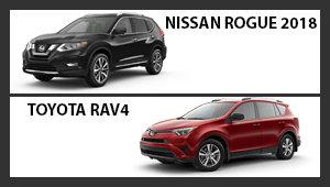 Nissan Rogue 2018 versus Toyota RAV4