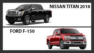 Nissan Titan 2018 versus Ford F-150
