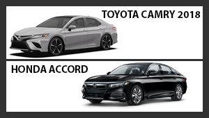 Toyota Camry 2018 versus Honda Accord