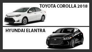 Toyota Corolla 2018 versus Hyundai Elantra