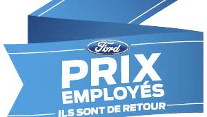 Prix employé Ford