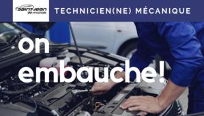 Poste à combler - Technicien(ne) mécanique