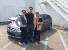 TRÈS HEUREUSE DU DÉVOUEMENT DE MON CONSEILLER! de Hyundai Trois-Rivières à Trois-Rivières