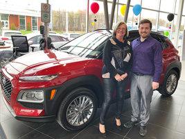 Félicitations Mme Marguerite Gélinas de Hyundai Shawinigan à Shawinigan