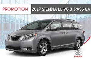 2017 Sienna LE V6 8-Pass 8A