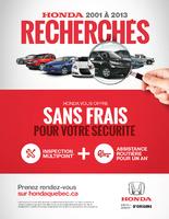 Inspection sans frais et assistance routière gratuite