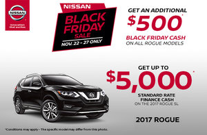 Black Friday - Save Big on the 2017 Rogue!