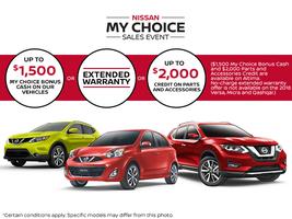 Nissan My Choice Sales Event!