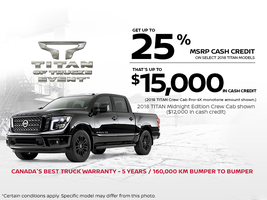 The 2018 Nissan Titan - Drive it today!