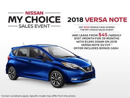 The new 2018 Nissan Versa Note - Drive it today!