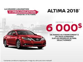 La Nissan Altima 2018