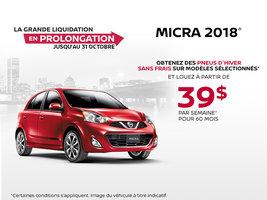 La Nissan Micra 2018!