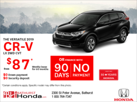 Lease the 2019 Honda CR-V !