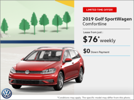 Get the 2019 Golf SportWagen!