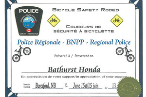 Contribution for the 2013 bicycle rodeo.