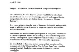 47th World Pee-Wee Hockey Championship of Quebec
