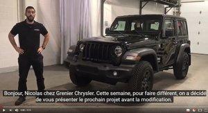 Jeep JL Sport 2018 avant modifications GRENIER OFF ROAD