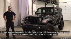 Jeep JL Sport 2018 MODIFIÉ PAR GRENIER OFF ROAD!