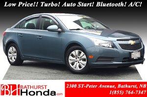 2012 Chevrolet Cruze LT Turbo w/1SA Low Price!! Turbo! Auto Start! Bluetooth! A/C!