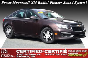 2015 Chevrolet Cruze 1LT Power Moonroof! XM Radio! Pioneer Sound System! 6 Speed Manual! Turbo! OnStar!