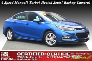2017 Chevrolet Cruze LT 6 Speed Manual! Turbo! Heated Seats! Backup Camera!