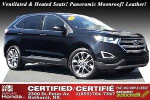 2016 Ford Edge Titanium New Brakes! AWD! Ventilated & Heated Seats! Panoramic Moonroof! Nav! Leather! Heated Seats!