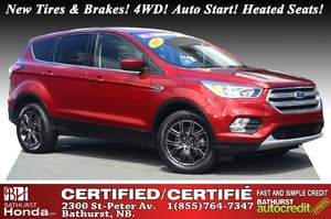 2017 Ford Escape SE - 4WD New Tires & Brakes! 4WD! Auto Start! Heated Seats! Backup Camera!