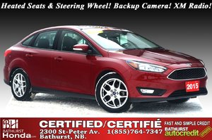 2015 Ford Focus SE 5 Speed Manual! Heated Seats & Steering Wheel! Backup Camera! Bluetooth! XM Radio!