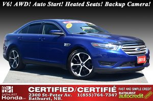 2015 Ford Taurus SEL - Low KM's - V6 AWD V6! AWD! Auto Start! Heated Seats! Backup Camera! Bluetooth!