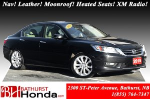 2015 Honda Accord Touring Nav! Leather! Moonroof! Heated Seats! XM Radio! Backup, Lane Camera!