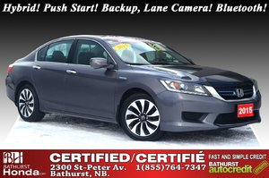 2015 Honda Accord Hybrid Hybrid! Push Start! Backup, Lane Camera! Bluetooth! Power Seat!