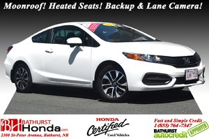 2015 Honda Civic Coupe EX Auto Start! Moonroof! Heated Seats! Backup and Lane Camera!