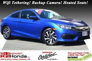 2016 Honda Civic Coupe LX Wifi Tethering! Backup Camera! Heated Seats!
