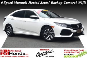 2018 Honda Civic Hatchback LX 6 Speed Manual! Heated Seats! Backup Camera! Bluetooth! Wifi! Apple CarPlay!