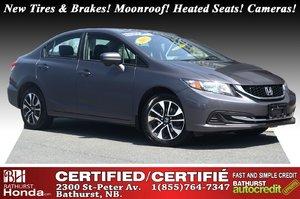 2015 Honda Civic Sedan EX New Tires & Brakes! Moonroof! Heated Seats! Backup and Lane Camera!